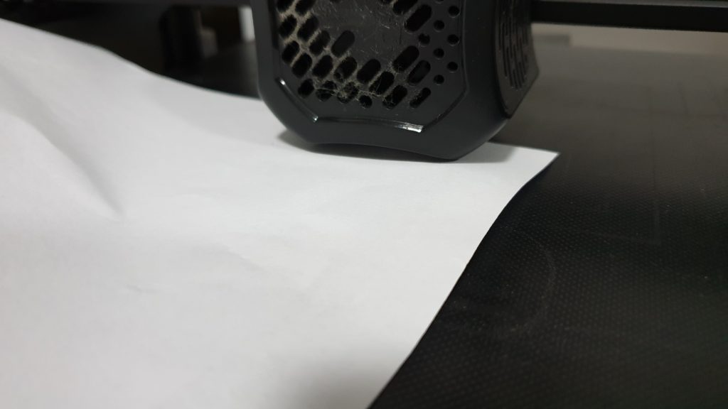 Putting a piece of paper