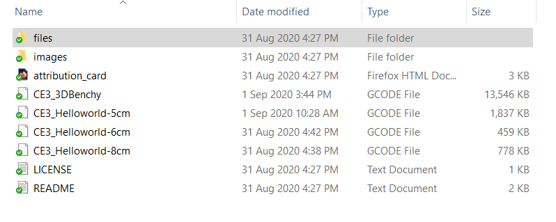 there are a few files in the .zip